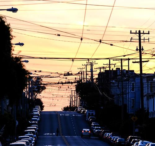 sanfrancisco california street city sunset usa fuji unitedstates stop instalation xe1 fujifilmx
