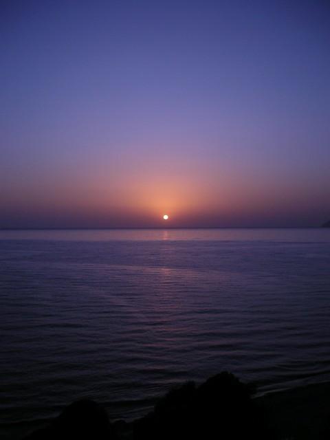 Soleil couchant à Corfou - Agios Gorgios