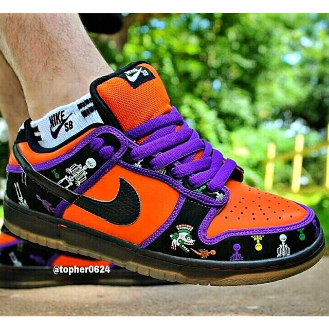 sports shoes 60bc7 e2ba2 Day of the Dead Nike Dunk SB worn by @topher0624 SneakerFi ...