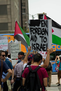 Palestinian Supporters Outside Chicago Union Station 0932 | by www.cemillerphotography.com