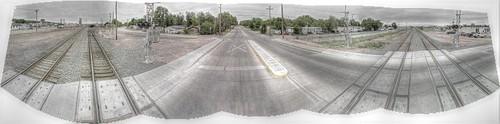panorama trek google crossing rail railway pan wyoming hdr highdynamicrange streetview panamerican gillette wy photomatix gsv googlestreetview