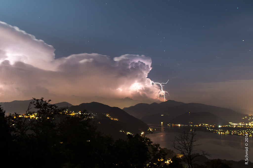 Lightning over Lugano