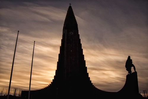 sunset statue clouds iceland reykjavik hallgrímskirkja capitalregion