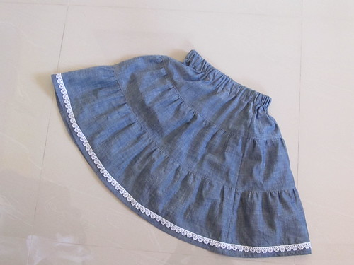 Tiered skirt size 2 from Sew Chic Kids