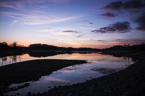 lac lake landscape paysage pyrénées france sunset soleil reflet reflection cloud nuage