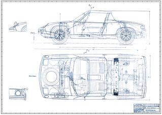 Porsche 914 Roadster Blueprint | by nickmix011