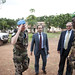 Jack Christofides, Director Africa Division II for the Department of Peacekeeping Operations visits Bambari in Central African Republic