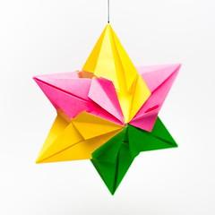 การพับกระดาษแบบโมดูล่าเป็นดาวสปาราซิส (Modular Origami Sparaxis Star) 024