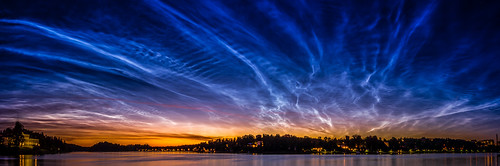Noctilucent clouds over Stockholm, Sweden | by kiril.videlov