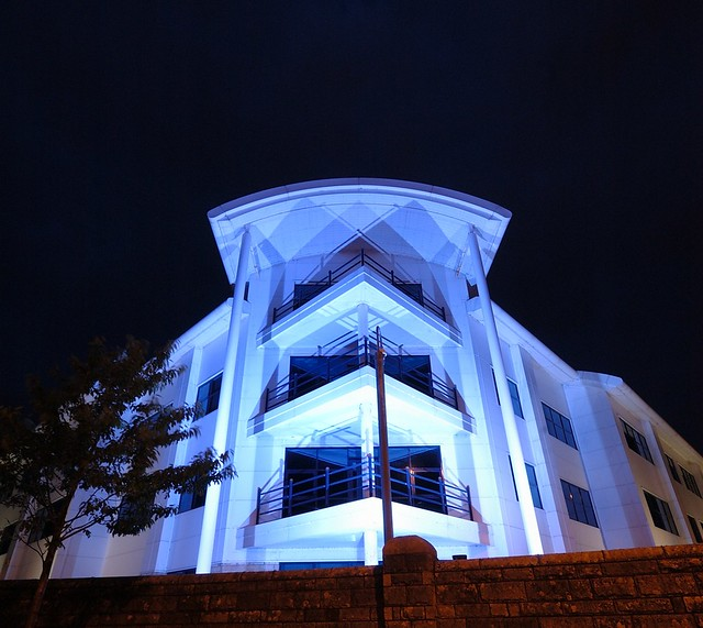 White Building at Night D210bob DSC_0018 N074