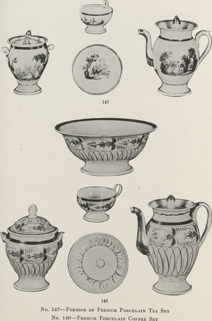"""Image from page 45 of """"Illustrated catalogue of the valuable private collection of beautiful old English china and lustre ware including a remarkable series of tea sets, historical blue and white plates and platters and early English, French and Bohemian"""