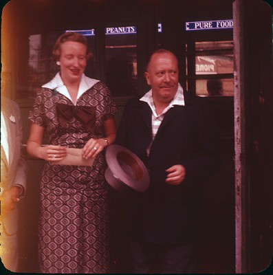 Ivar Haglund with unidentified woman, 1960   by Seattle Municipal Archives