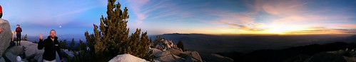 panorama sunrise hiking pano palmsprings peak summit moonset mtsanjacinto mtsanjacintostatepark supermoon