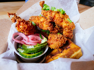 Chicken and Waffles at Saus | by Hybernaut
