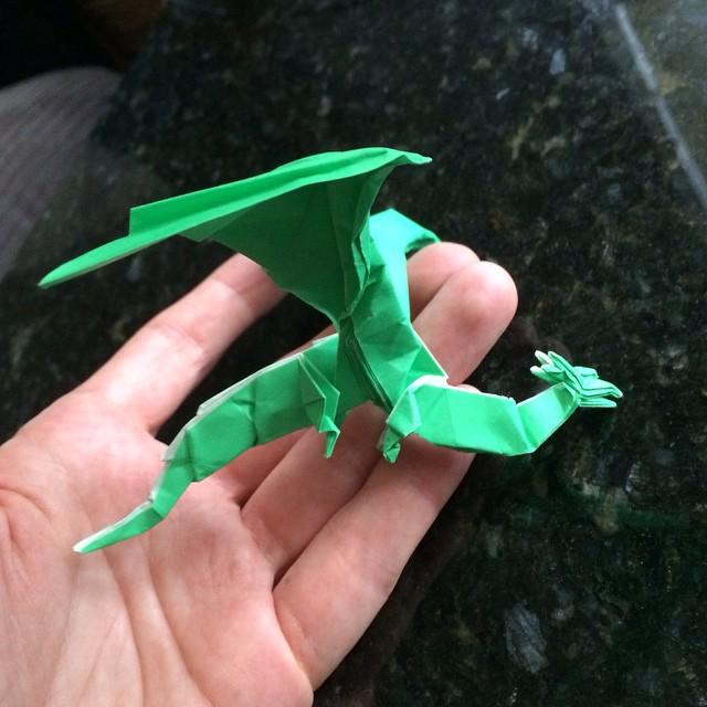 How to craft origami dragon - Hellokids.com   640x640