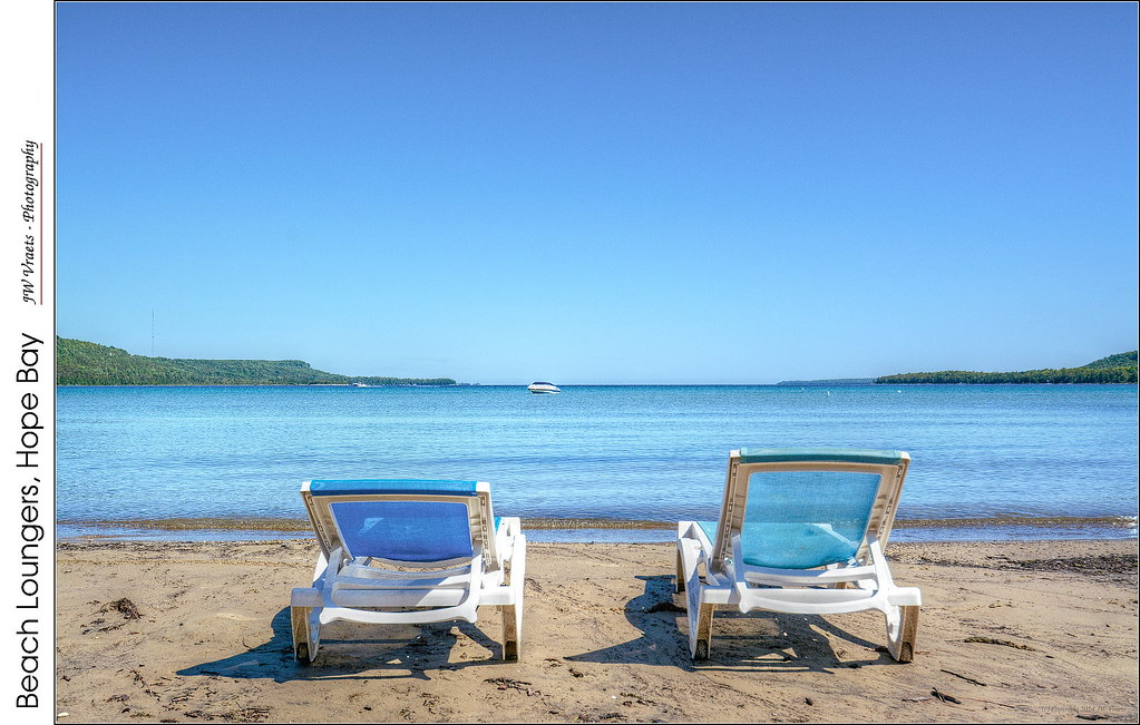 Beach Loungers, Hope Bay – (HDR/Tone-Mapped) | As we meander