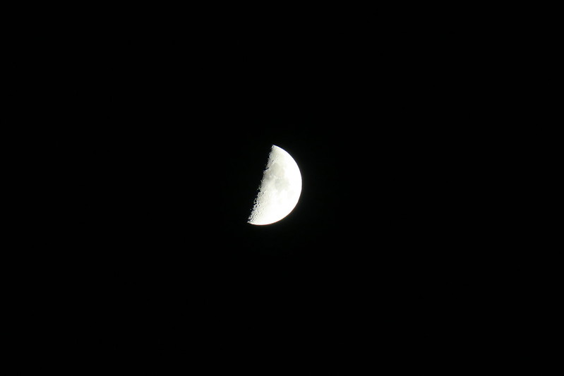 PowerShot G3X 600mm 手持ち 月 クレーターも見える