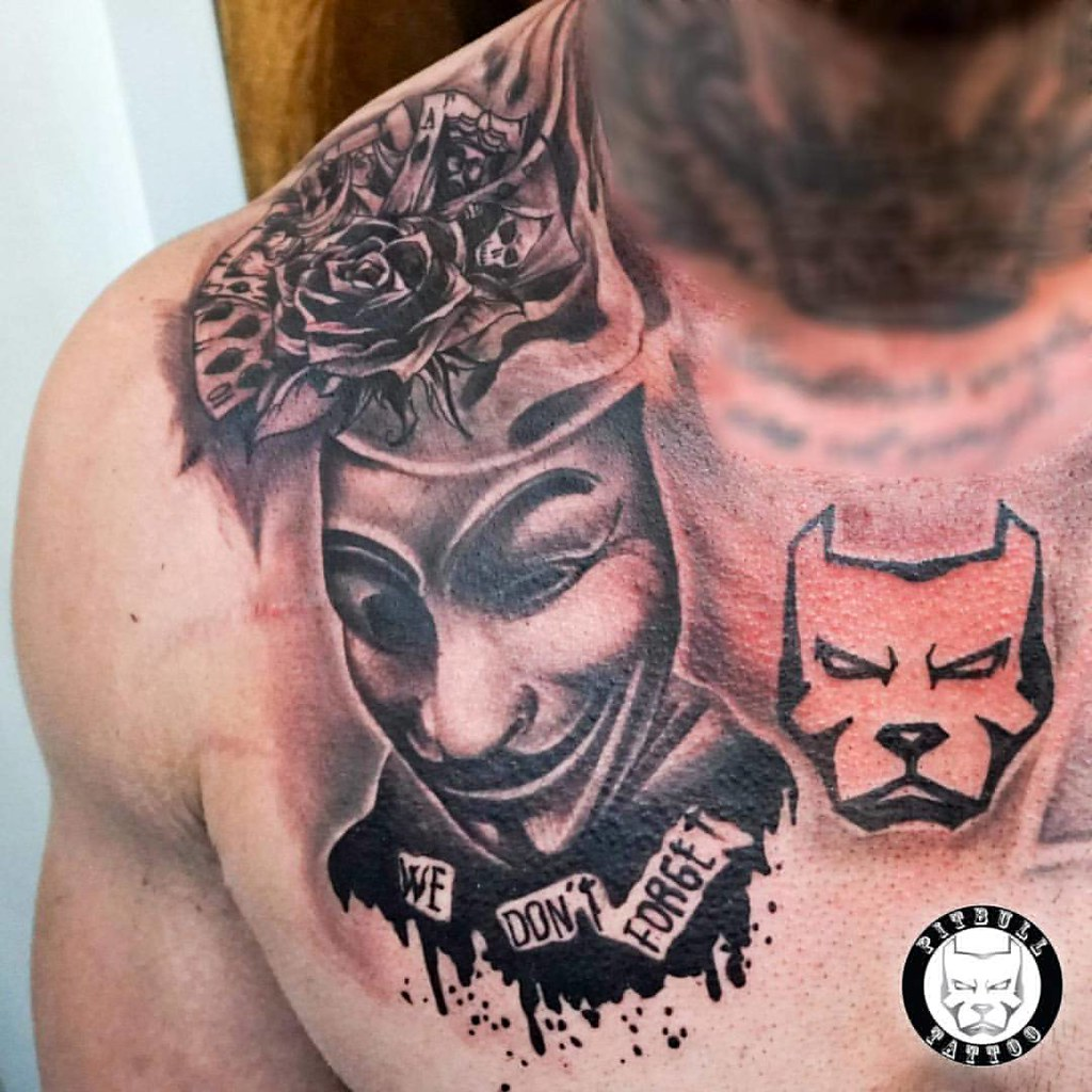 Chicano Tattoo Bitlypitbulltattoothailand Pitbull
