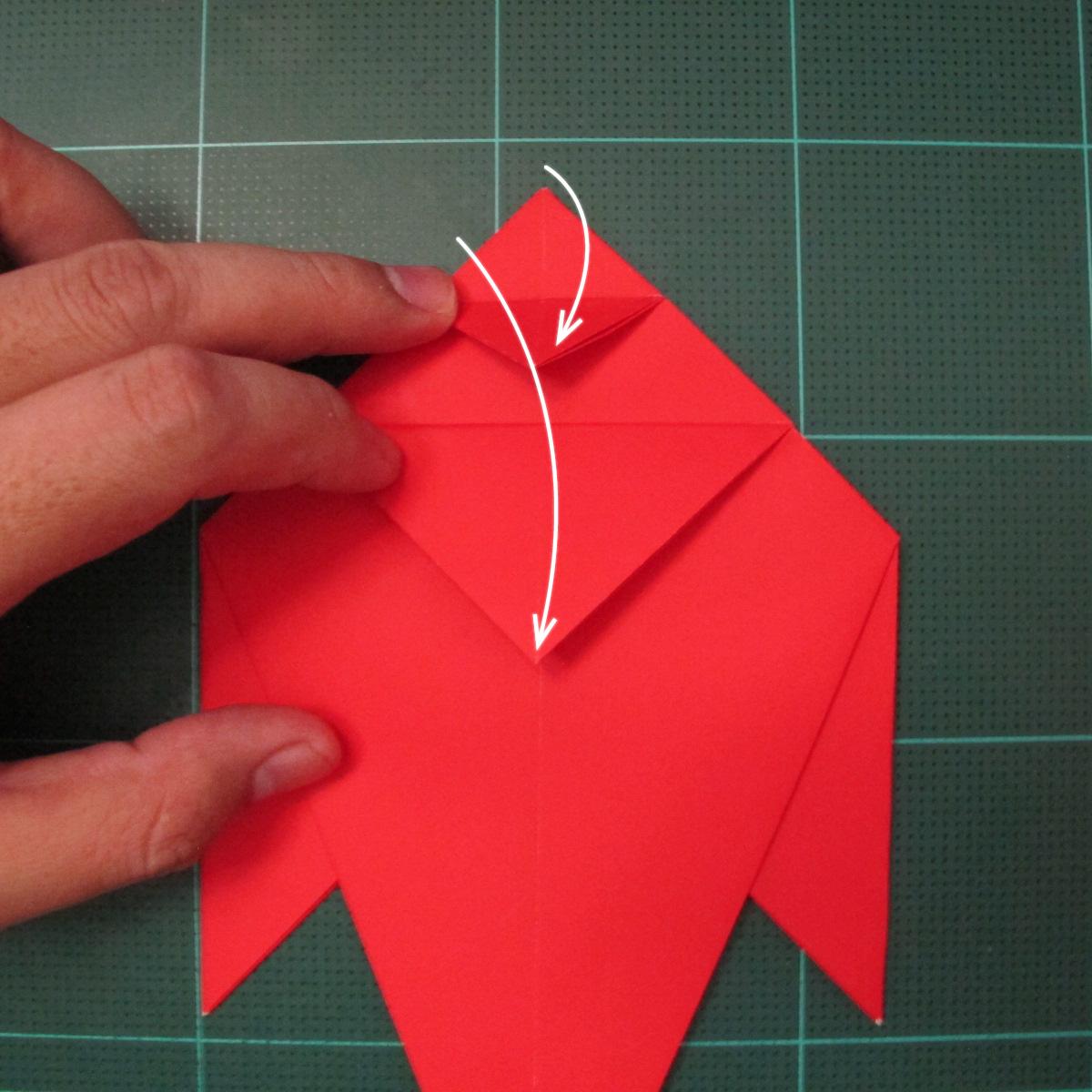 การพับกระดาษเป็นรูปสัตว์ประหลาดก็อตซิล่า (Origami Gozzila) 029