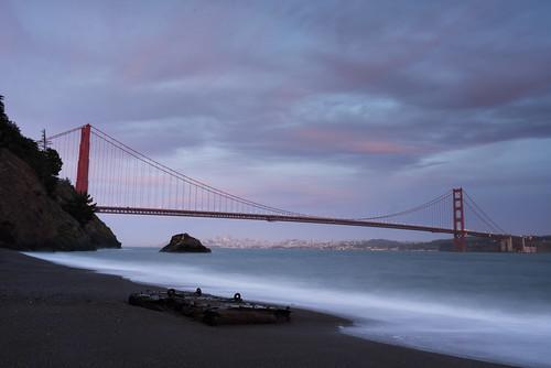 sanfrancisco california sunset beach zeiss unitedstates sony pacificocean goldengatebridge marinheadlands millvalley kirbycove a7r variotessartfe2470