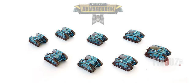 EPIC Armageddon - Death Korps Of Krieg Army in 6mm size - an
