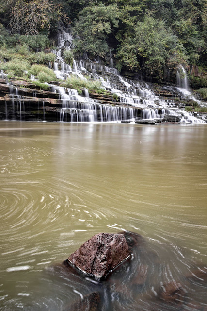 Twin Falls, Caney Fork River, Rock Island State Park, Warren and White County, Tennessee