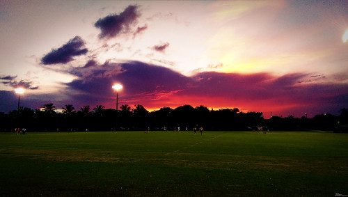 morning school sunset red orange hot color green college field smart silhouette clouds sunrise one evening football warm university phone florida miami soccer scene smartphone canes m8 ncaa hurricanes 305 htc