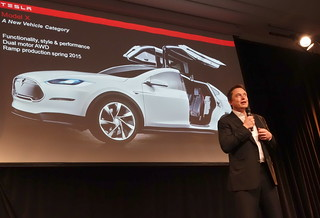 Elon Musk at the Tesla Annual Shareholder Meeting today   by jurvetson