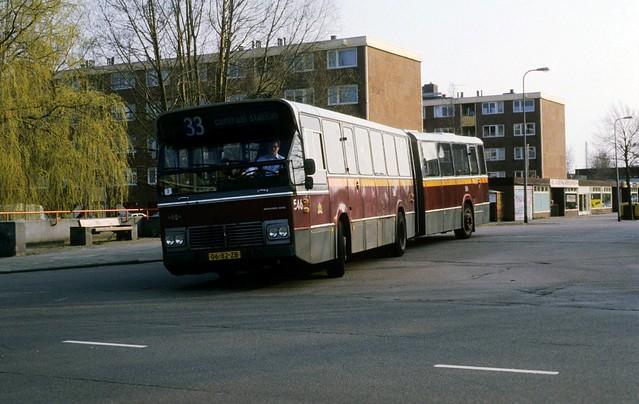 GVB 546 Mercedes-Benz Schenk Hainje gelede bus articulated bus 1977