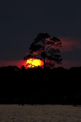 sunset usa water nikon wasser unitedstates florida fortwaltonbeach ftwaltonbeach fwb okaloosacounty d5000 cincobayou fisherbray