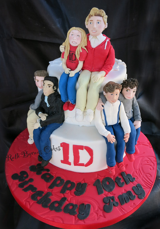 Remarkable One Direction Cake For Amy 10Th Birthday Cake For My Niece Flickr Funny Birthday Cards Online Elaedamsfinfo