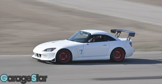 tearing down the straight at buttonwillow | by DAVID IZRAILOV