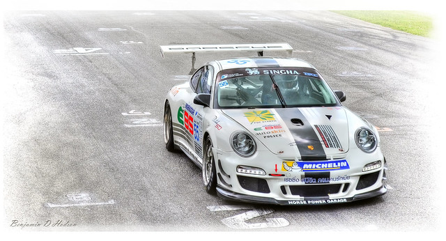 Porsche testing day at BIRA