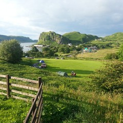 stunning view from Oban campsite