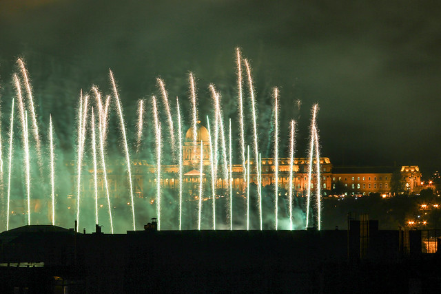 Fireworks Show in Budapest on St. Stephen's Day 2014 August 20. - 17