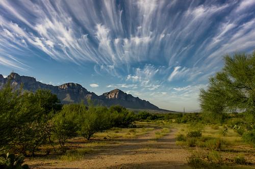 morning mountain mountains clouds nikon desert tucson az valley commute hdr oro coolpixa