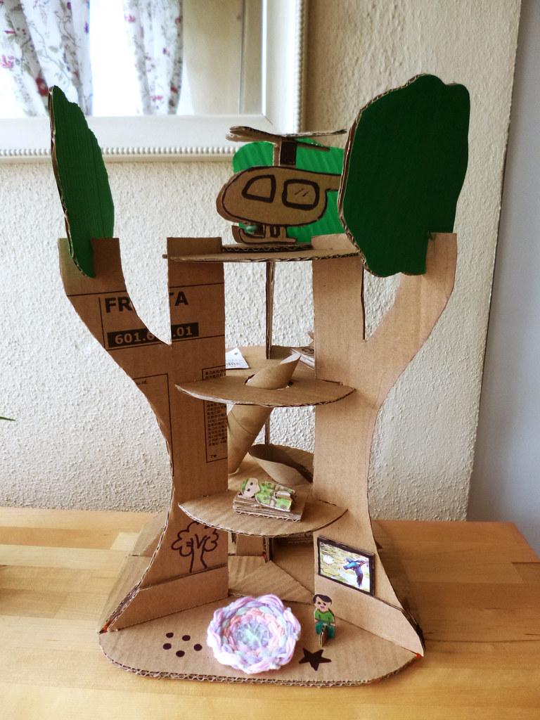 Cardboard Treehouse Adline Writes Flickr