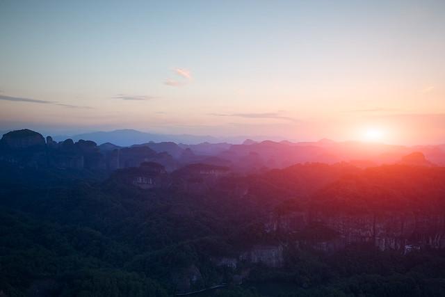 Danxiashan National Park - 丹霞日落