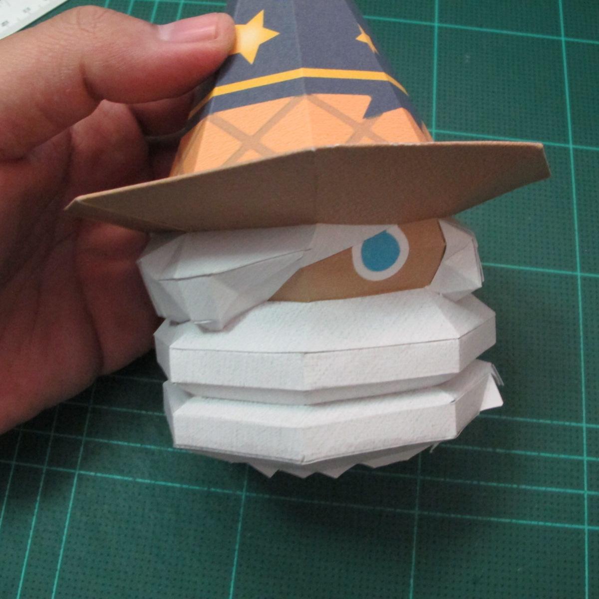 วิธีทำโมเดลกระดาษของเล่นคุกกี้รัน คุกกี้รสพ่อมด (Cookie Run Wizard Cookie Papercraft Model) 050