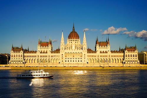 travel sunset water architecture buildings river boat europe hungary day sony budapest parliament bluesky danube sonya7