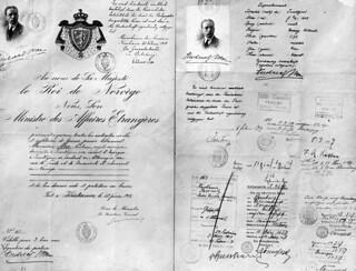 Andreas Moes reisepass til Tyskland 1917 - 1918