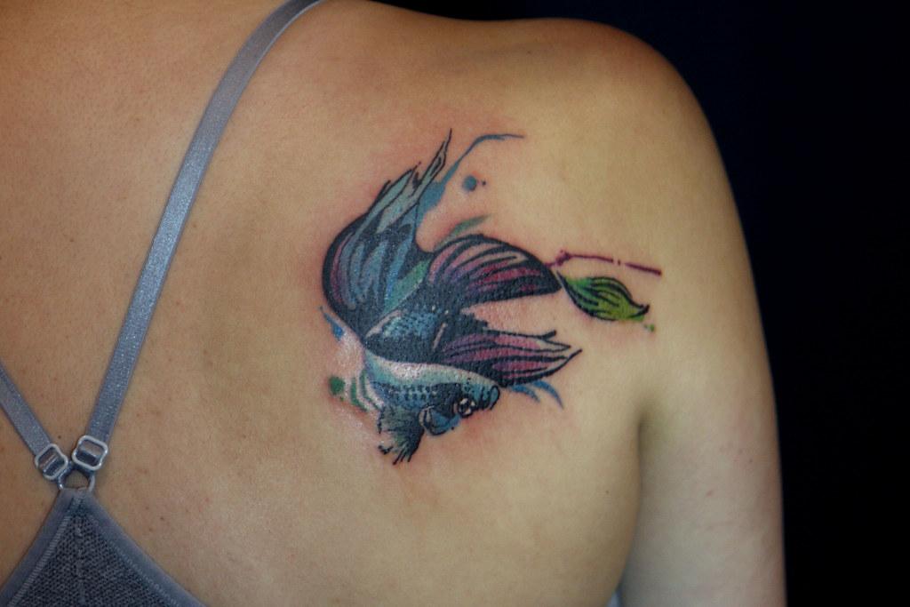 Beta Fish Tattoo Deanna Wardin Flickr