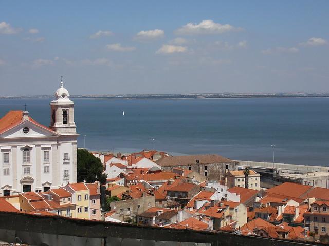 Lisbon, Portugal, roofs & Tage