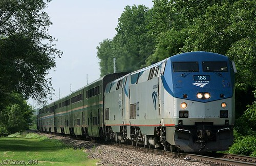 railroad train lawrence chief ks 4 railway amtrak kansas late ge railfan bnsf southwestchief superliner p42