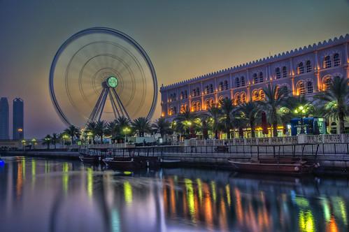 sunset architecture evening uae ferriswheel sharjah qanatalqasba