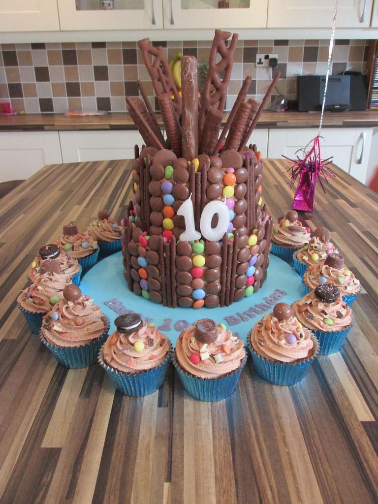 Chocolate Explosion Cake Cupcakes 2 Tier Chocolate Explo