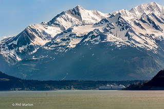 Cruise ship dwarfed by mountain scenery of Favorite Channel, Alaska | by Phil Marion (173 million views - THANKS)