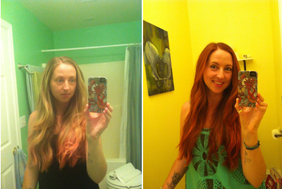 Henna Hair Before and After | by Ladybugrrl2011
