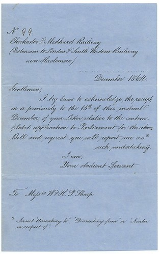 Chichester & Midhurst Railway treat notice 1864 1   by ian.dinmore