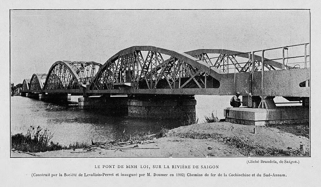 L'INDOCHINE 1906 - Le pont de Binh Loi, sur la rivière de …   Flickr